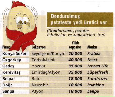dondurulmus patates ureticileri