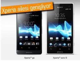 Sony yeni modelleri su ve toz geçirmeyen Acro S ve Xperia Go'yu duyurdu.